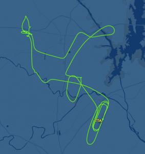 Screenshot of flight path.