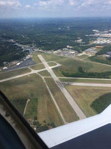 Danville, Virginia airport.